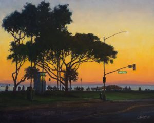 "Distinctive Merit Award ""Main Beach Silhouette"" by Carl Bretzke"