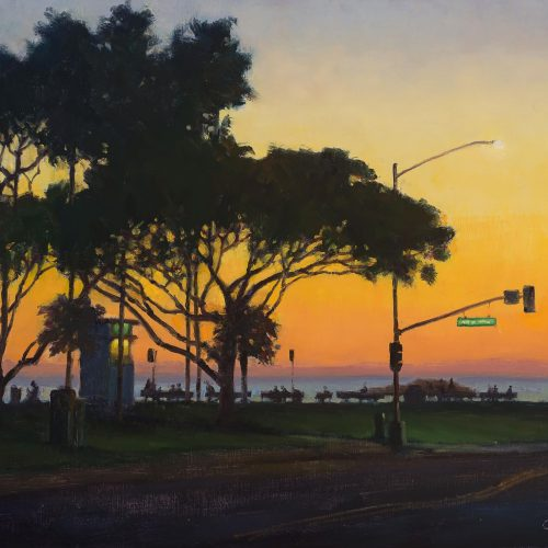"Distinctive Merit Award ""Main Beach Silhouette"" by Carl Bretzke"