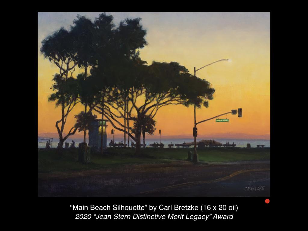 Main Beach Silhouette by Carl Bretzke