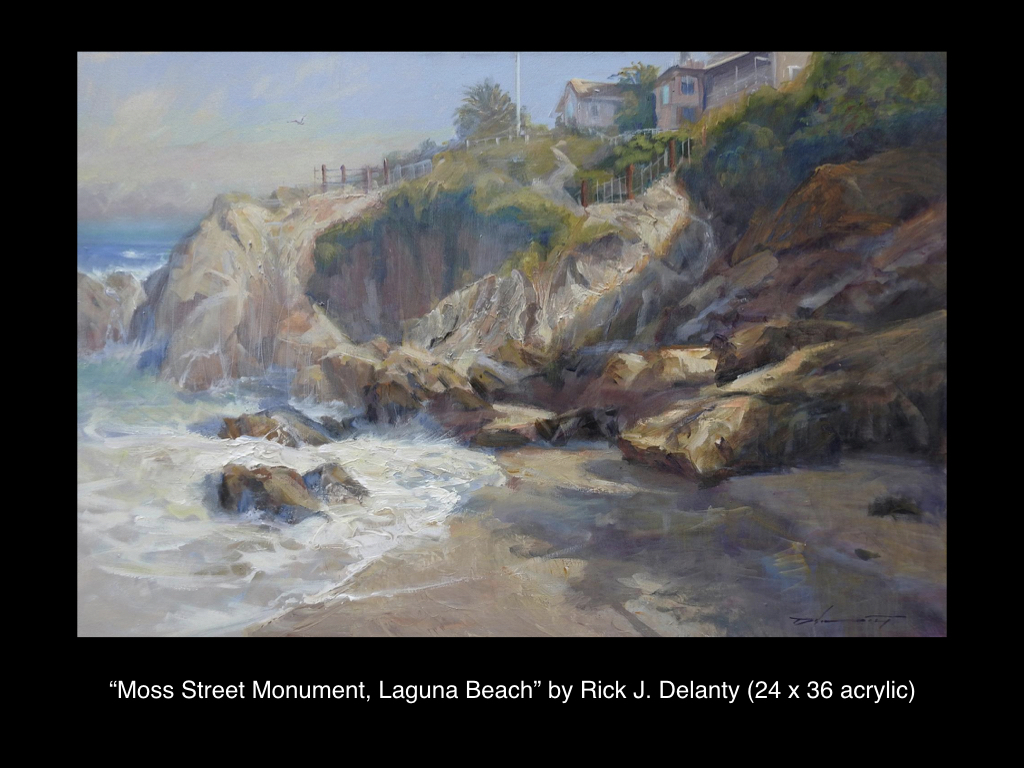 Moss Street Monument, Laguna Beach by Rick J. Delanty