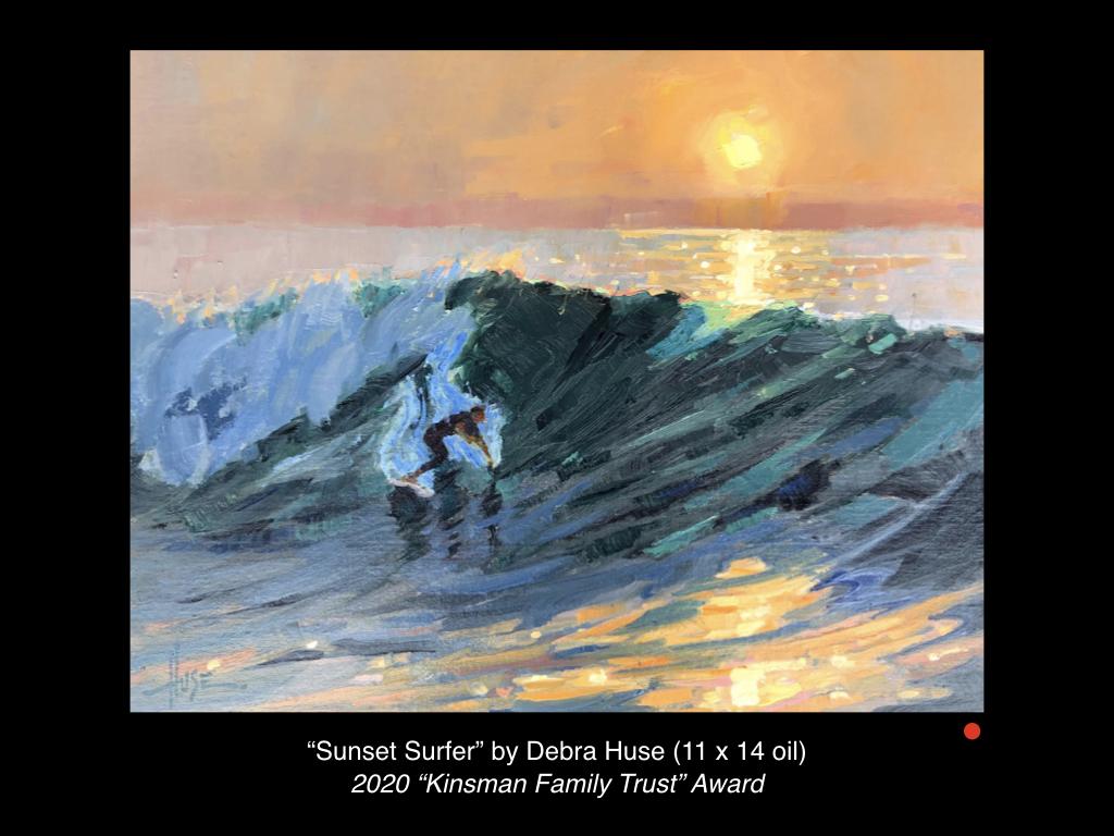 Sunset Surfer by Debra Huse