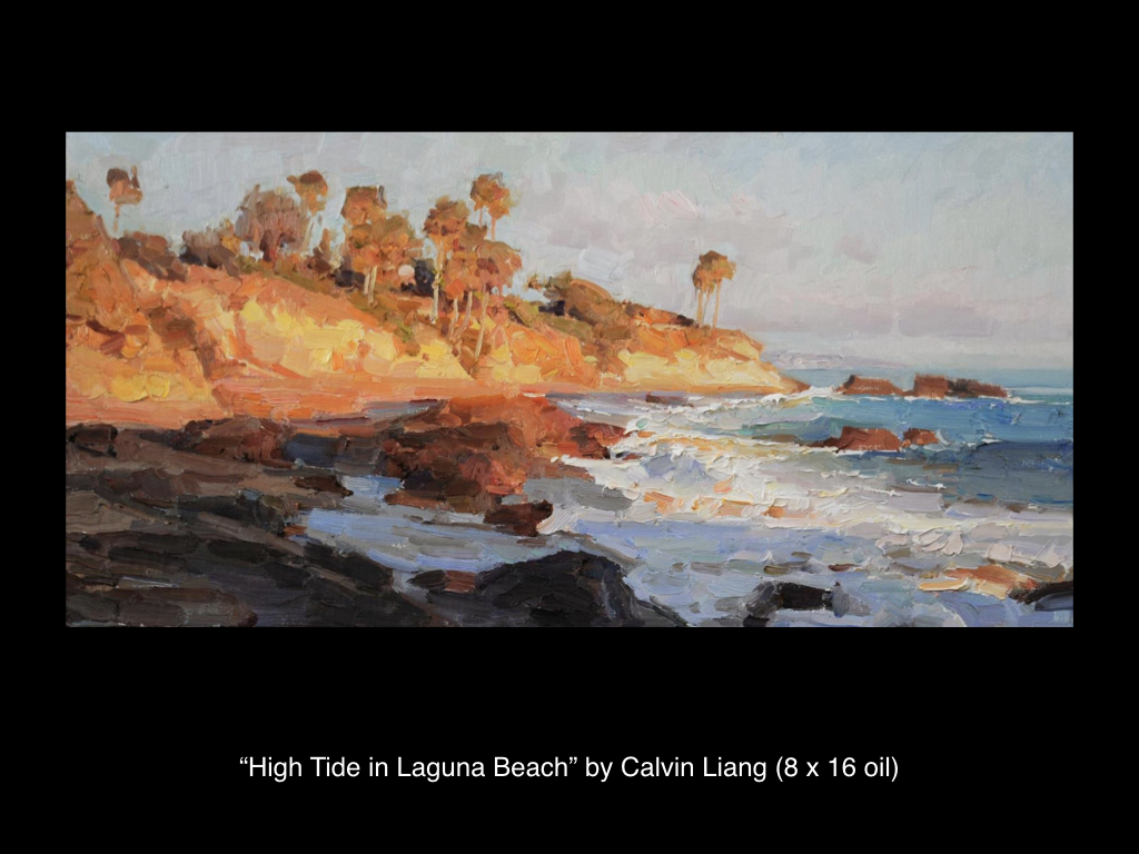 High Tide in Laguna Beach by Calvin Liang