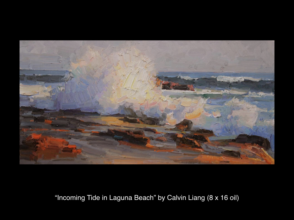 Incoming Tide in Laguna Beach by Calvin Liang