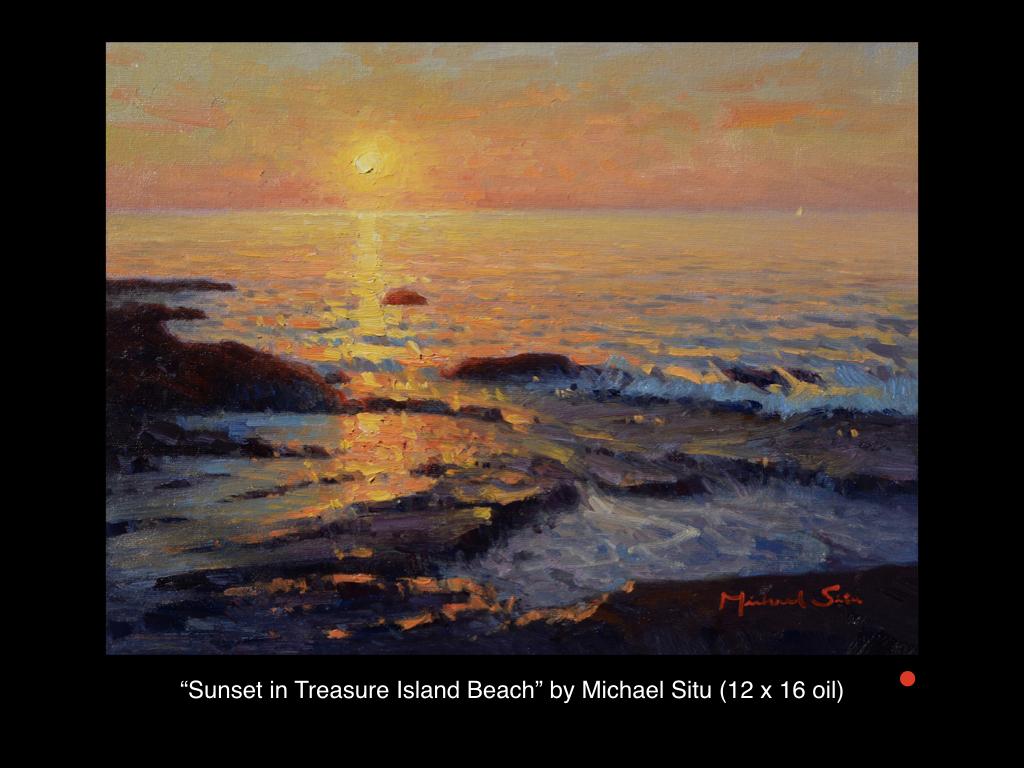 Sunset in Treasure Island Beach by Michael Situ