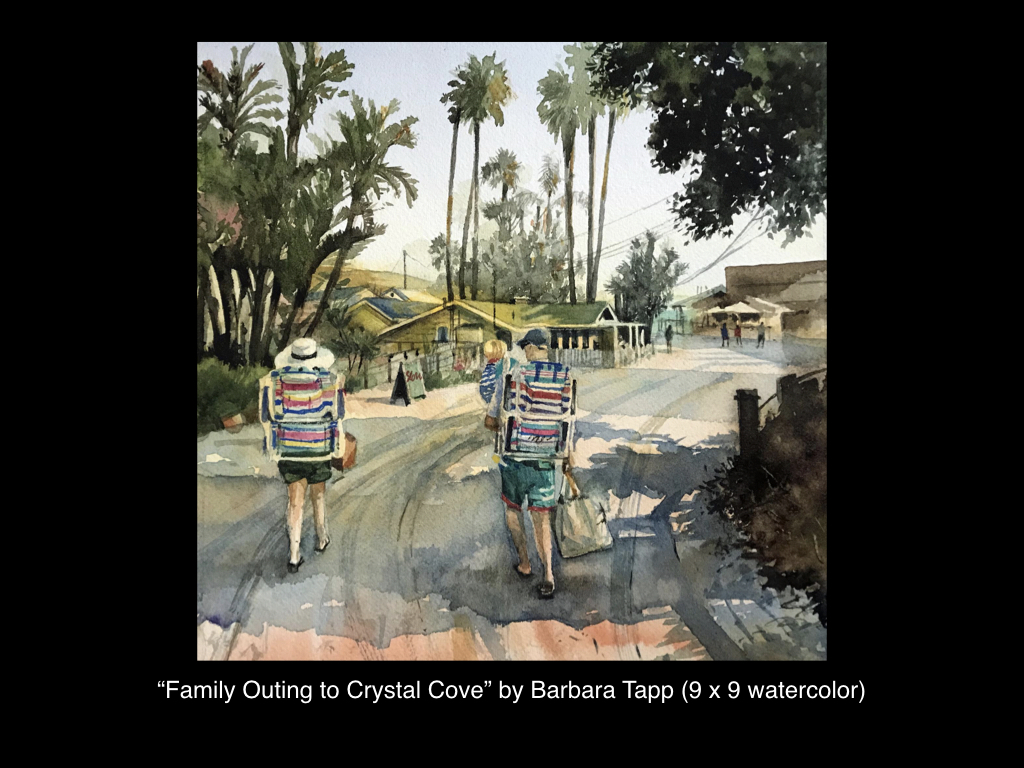 Family Outing to Crystal Cove by Barbara Tapp