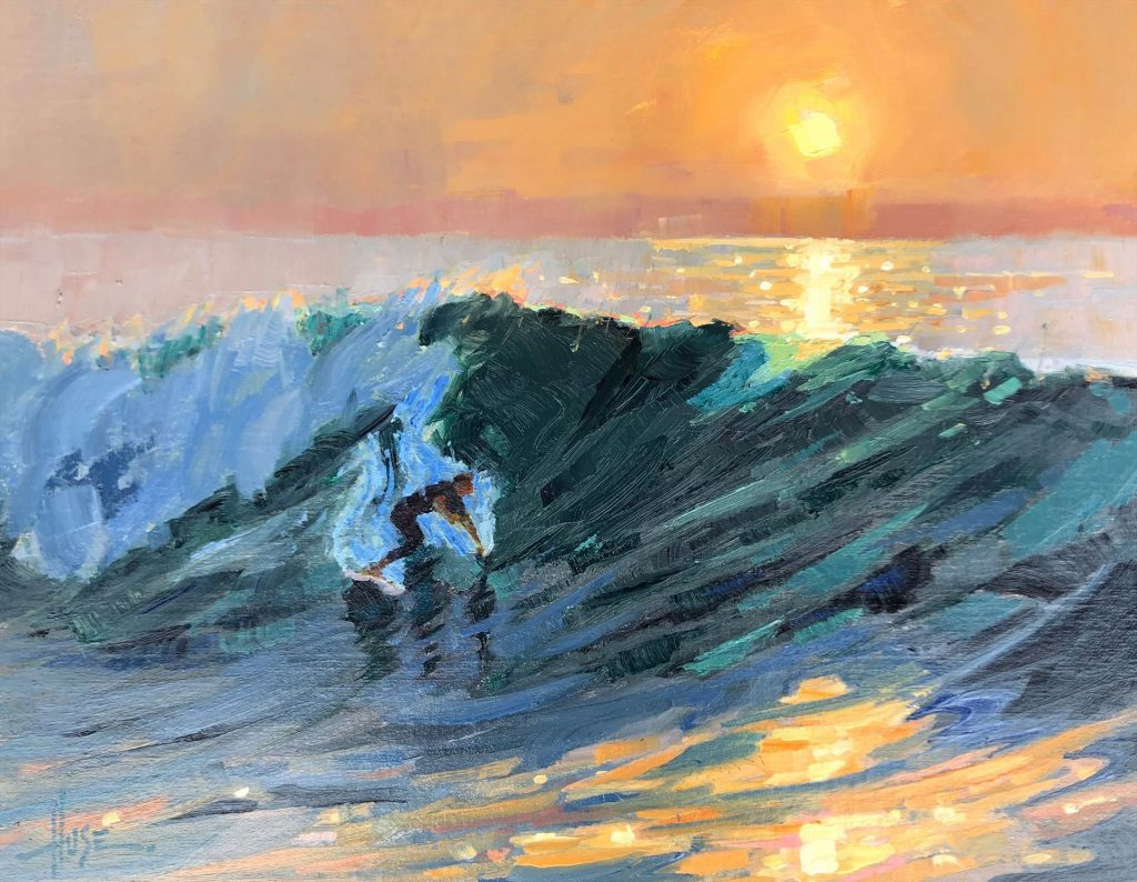 "Kinsman Family Trust Award ""Sunset Surfer"" by Debra Huse"