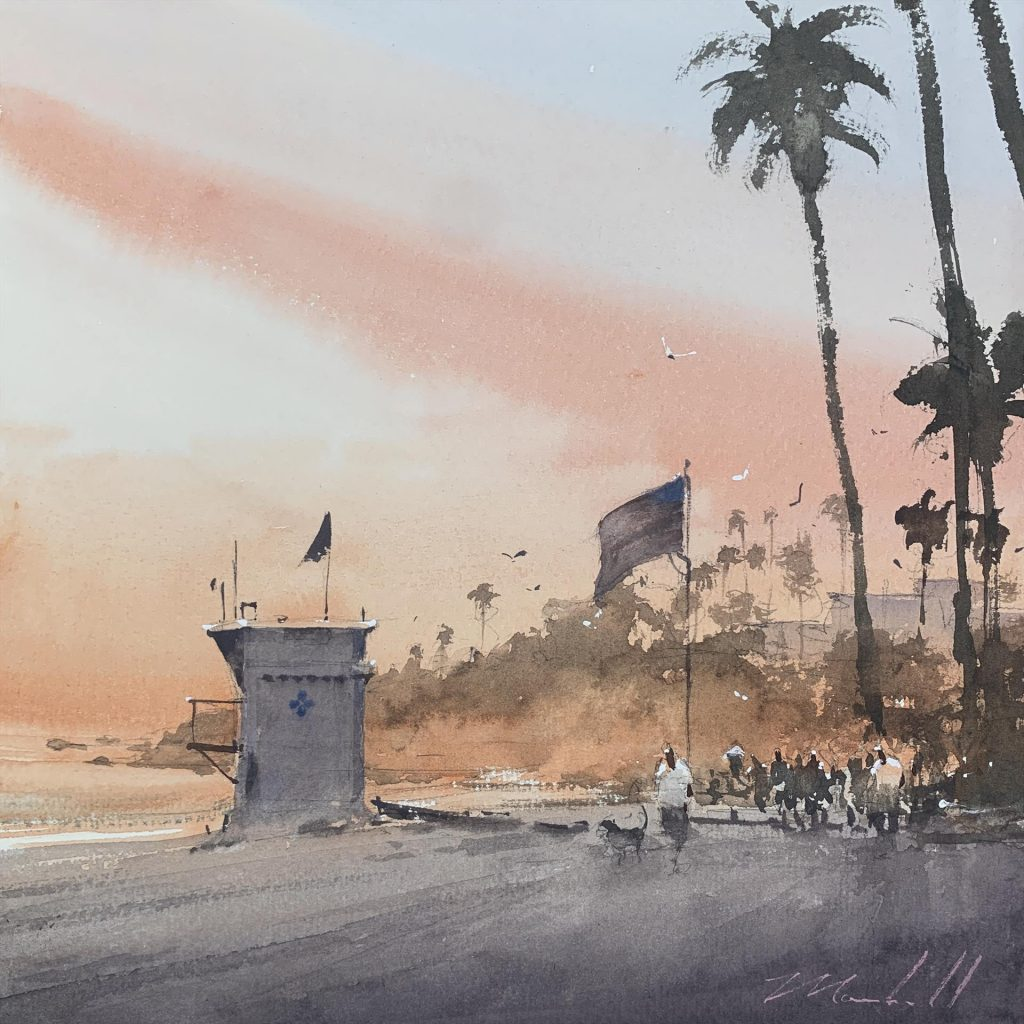 "Artistic Palette Award ""Main Beach Weekend"" by Daniel Marshall"