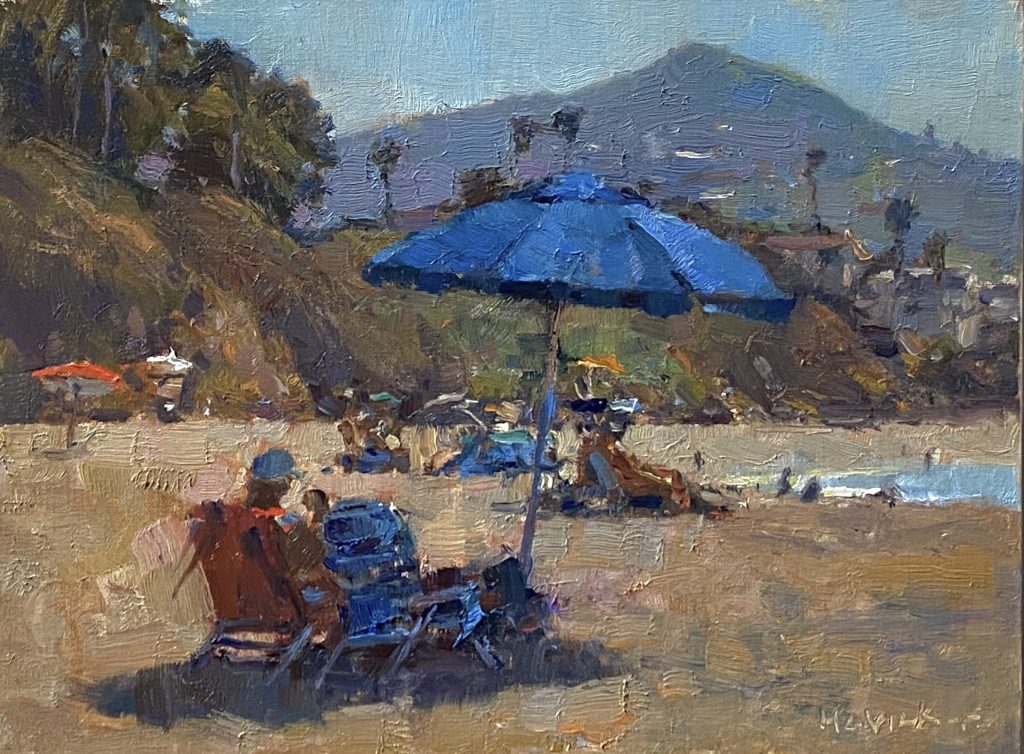 "2020 Laguna Invitational Quick Draw Award ""At the Beach"" by Jim McVicker"
