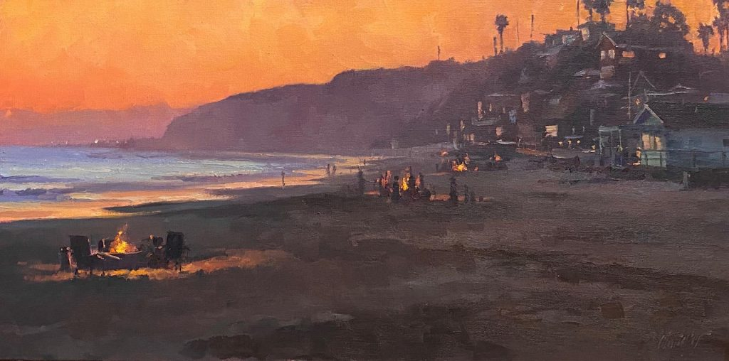 "Laguna Invitational Ovation Award ""Crystal Cove Glow"" by Michael Obermeyer"