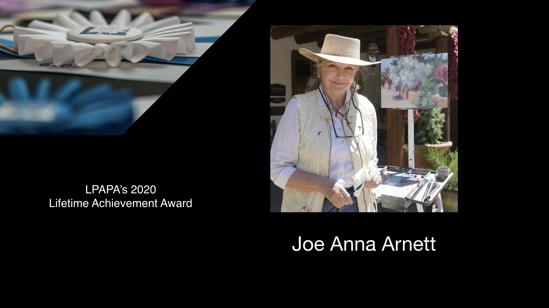 Lifetime Achievement to Joe Anna Arnett