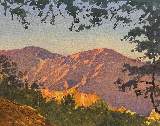 "Huse Skelly Gallery 1st Place: LPAPA Signature Member Larry Cannon for ""San Gabriels Sunset"""