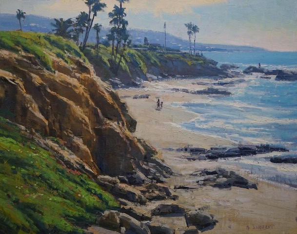 "Huse Skelly Gallery Best in Show:  LPAPA Signature Member Aaron Schuerr for ""Divers Cove Outlook"""