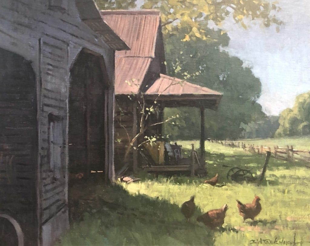 PleinAir Salon Winner Stepping Out by Bill Farnsworth