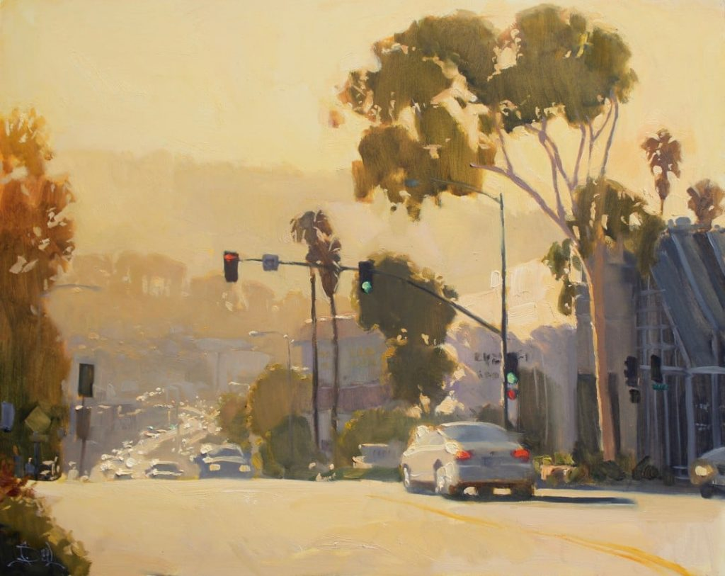 "PleinAir Salon Best Plein Air Work Only - LPAPA Signature Artist Jennifer Diehl for ""Pacific Coast Hwy"""