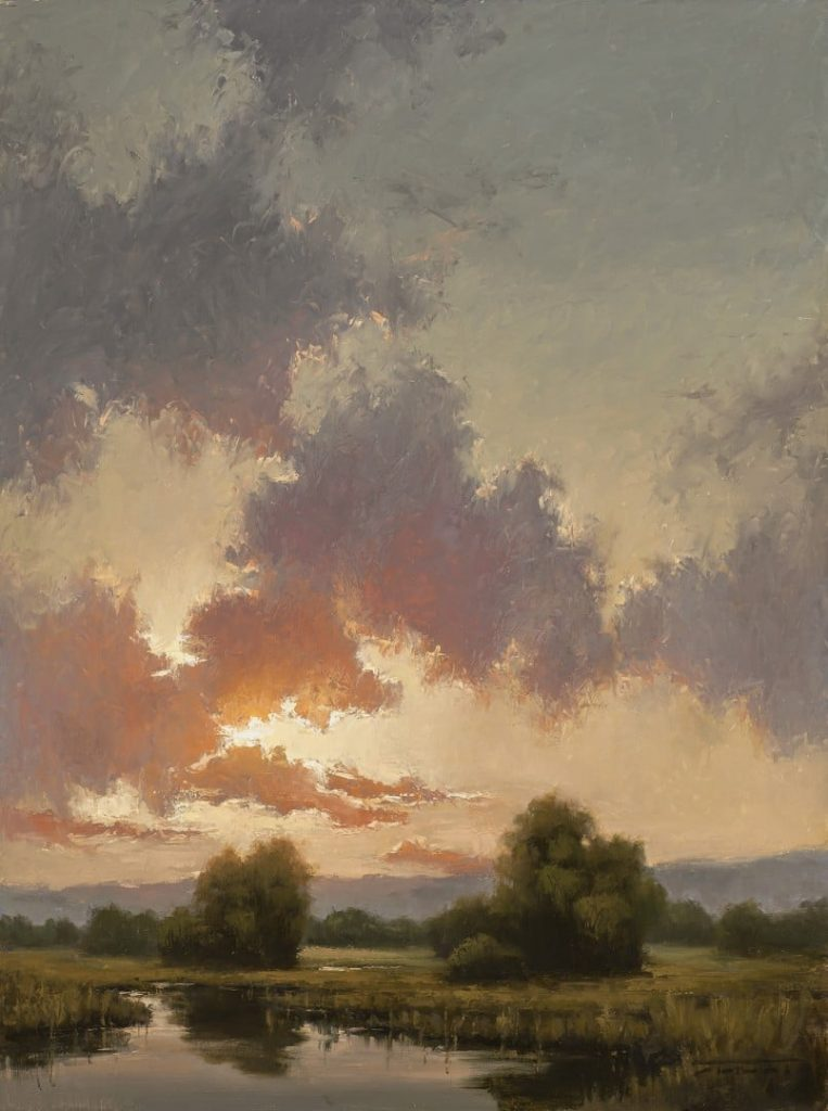 "PleinAir Salon Best Western - LPAPA Signature Artist Jane Hunt for ""Looking West"""