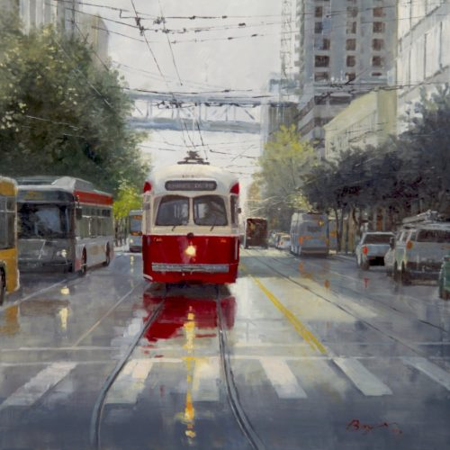 """2nd Place Overall """"Red Trolley"""" by Richard Boyer"""