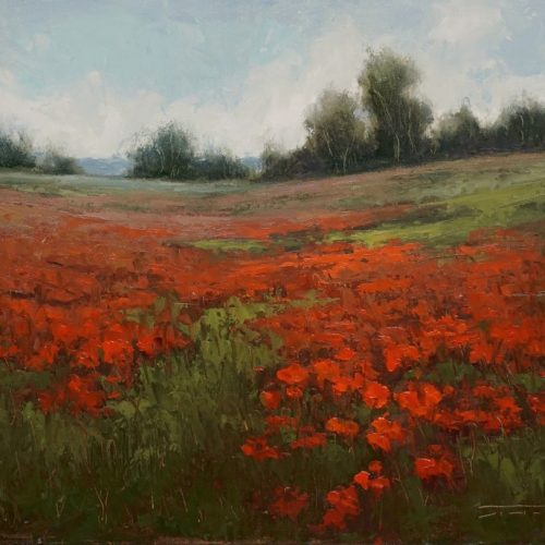 """Best Floral """"May Poppies"""" by Jane Hunt"""