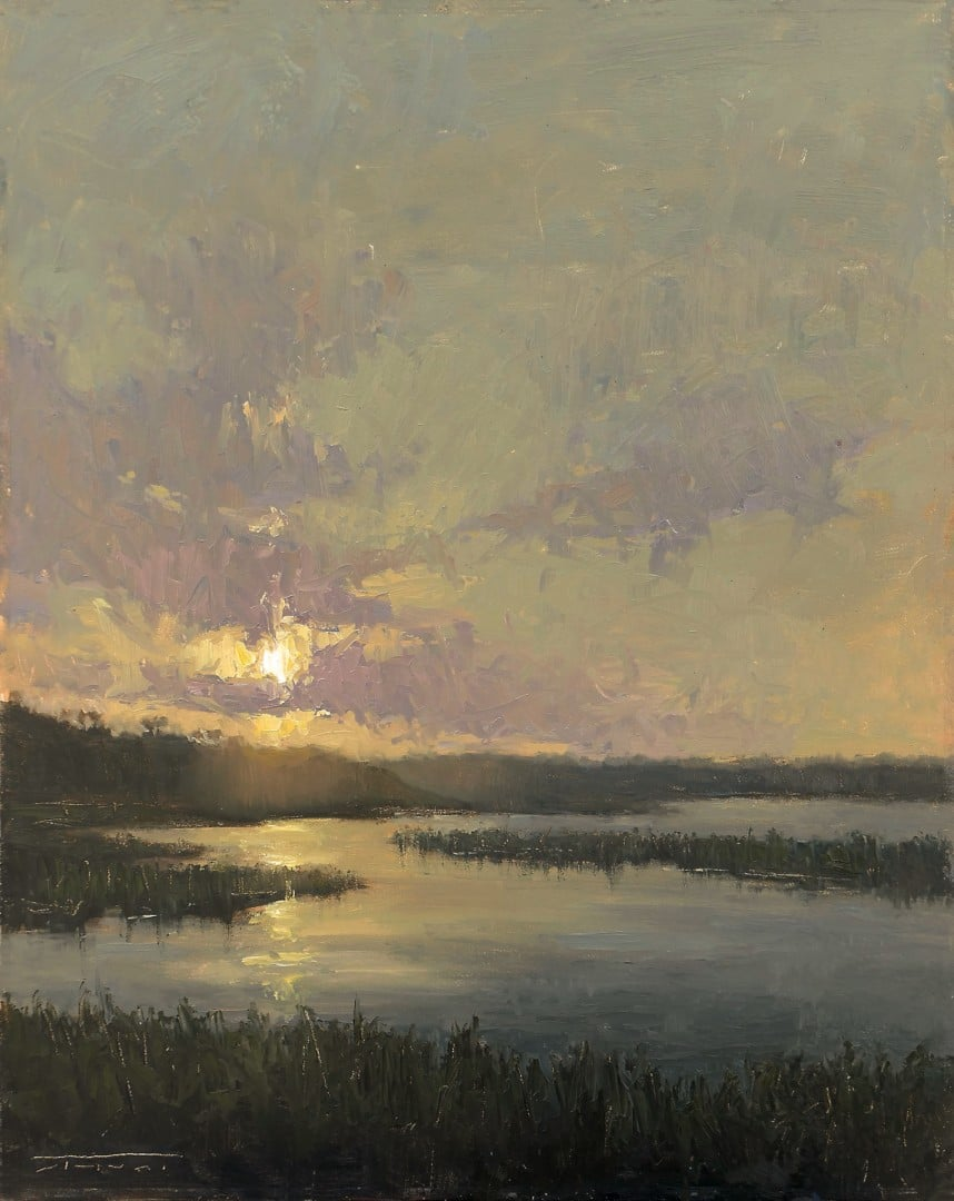 """Best Plein Air Only """"Back Bay Evening"""" by Jane Hunt"""