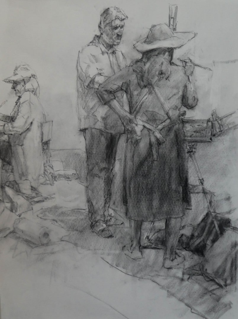 "Best Drawing ""Plein Air Artists - Ireland"" by Ned Mueller"