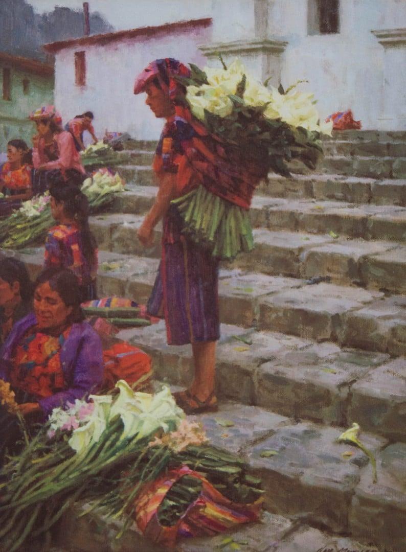 """Best Figure & Portrait """"Flower Market - Guatemala"""" by Ned Mueller"""