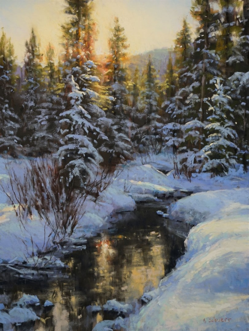 "Best Pastel ""Winter Gold"" by Aaron Schuerr"