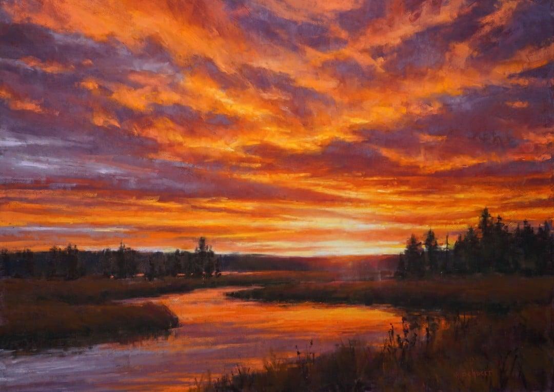 "Best Nocturne, Sunrise & Sunset ""Yellowstone Sunset"" by Aaron Schuerr"
