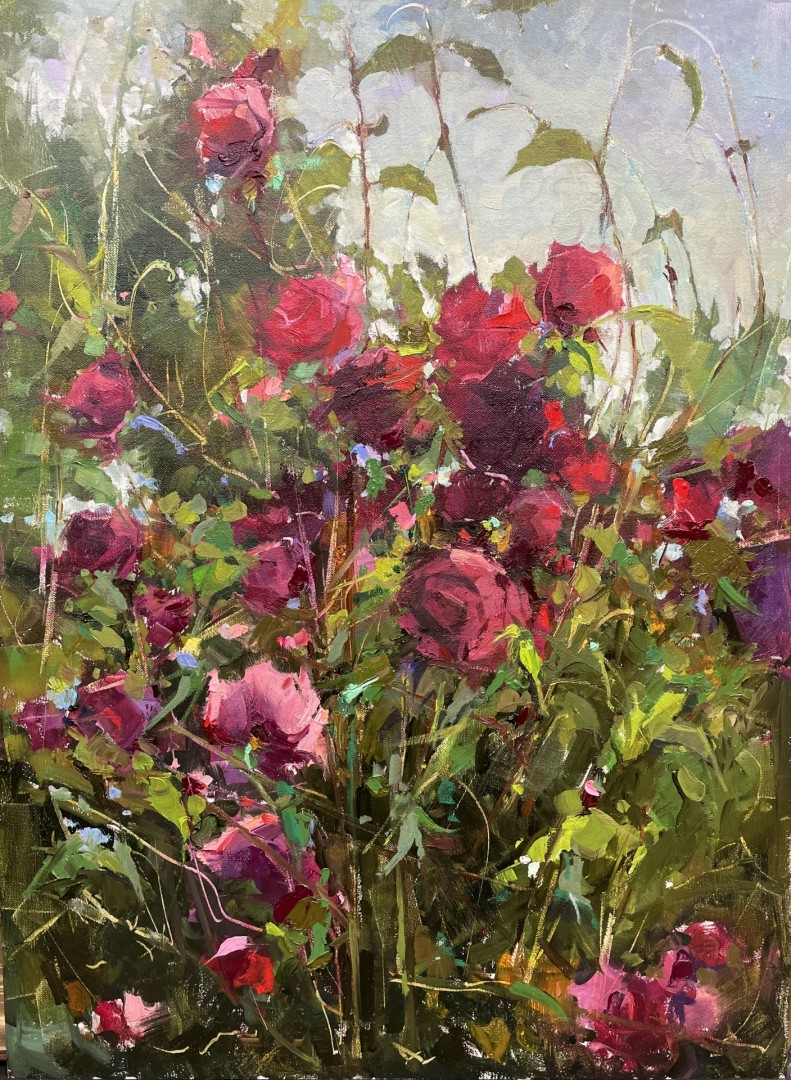 "Best Floral ""Wild Roses"" by Michele Usibelli"