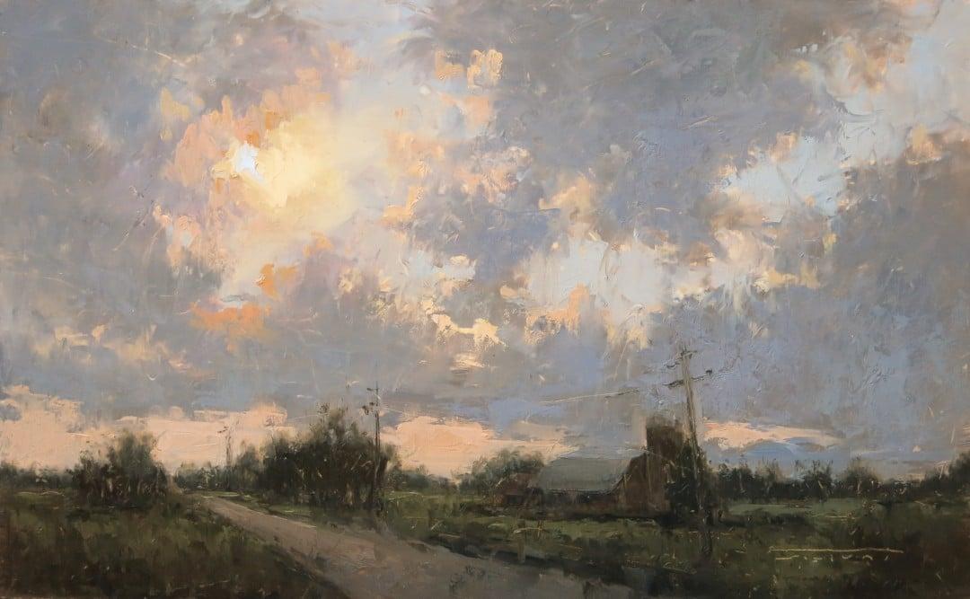 "Best Landscape ""Q Road Sunset, plein air"" by Jane Hunt"