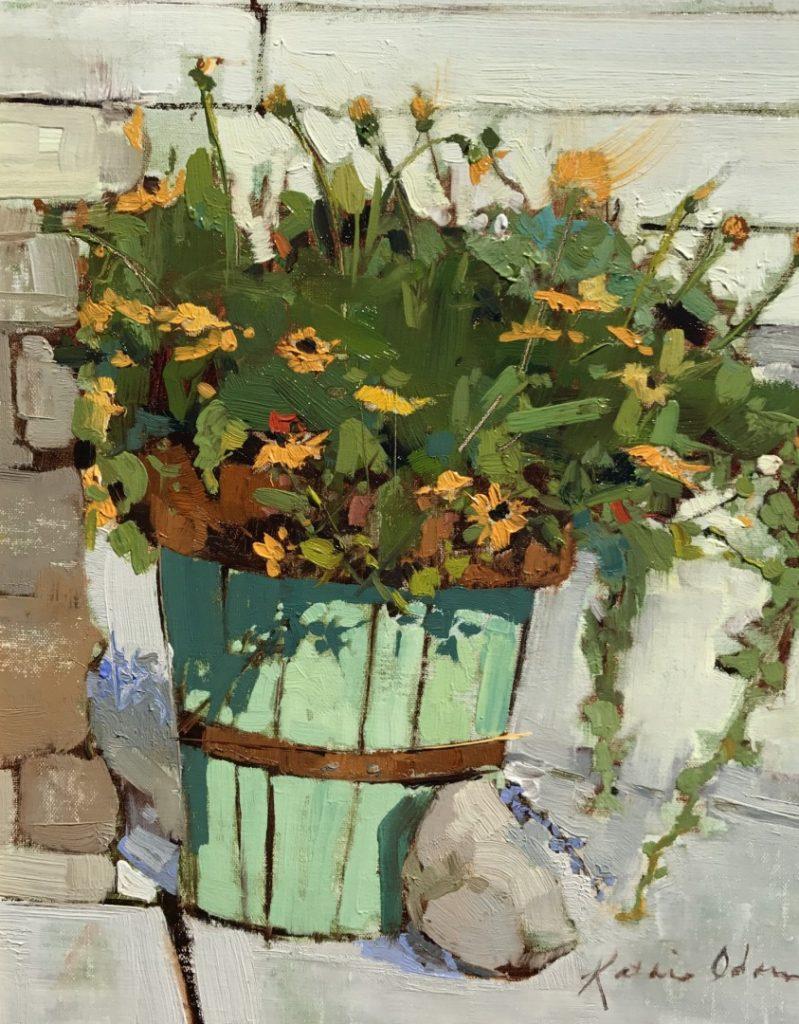 "PleinAir Salon Best Floral ""Sisters"" by Kathie Odom (14x11 oil)"