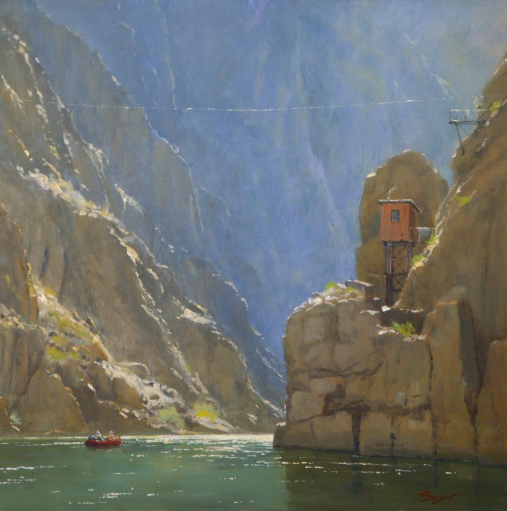 "PleinAir Salon June 2021 Best Landscape ""Journey to the Center of the Earth"" by Richard Boyer (24x24 oil)"