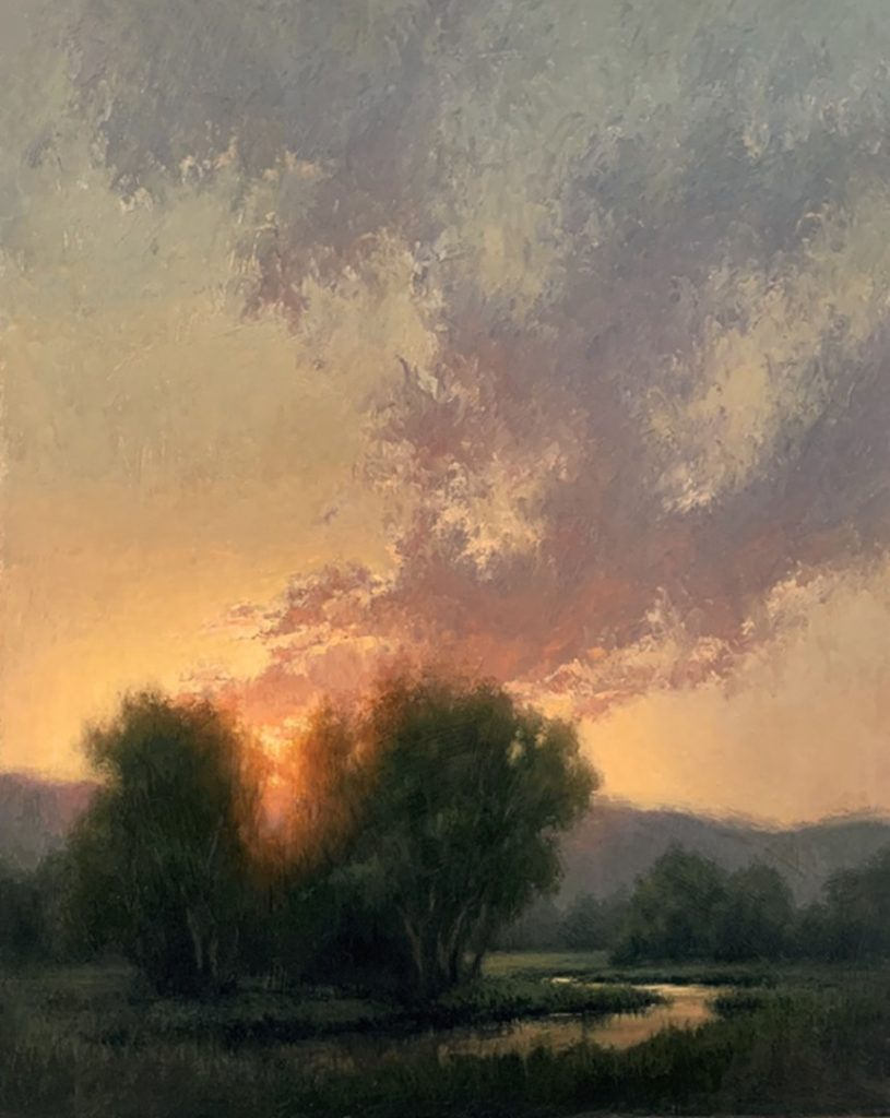 "PleinAir Salon June 2021 Best Oil ""Evening's Promise"" by Jane Hunt (30x24 oil)"