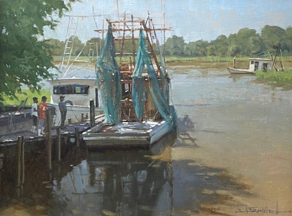 PleinAir Salon May 2021 Best Water Patch and Mend by Bill Farnsworth
