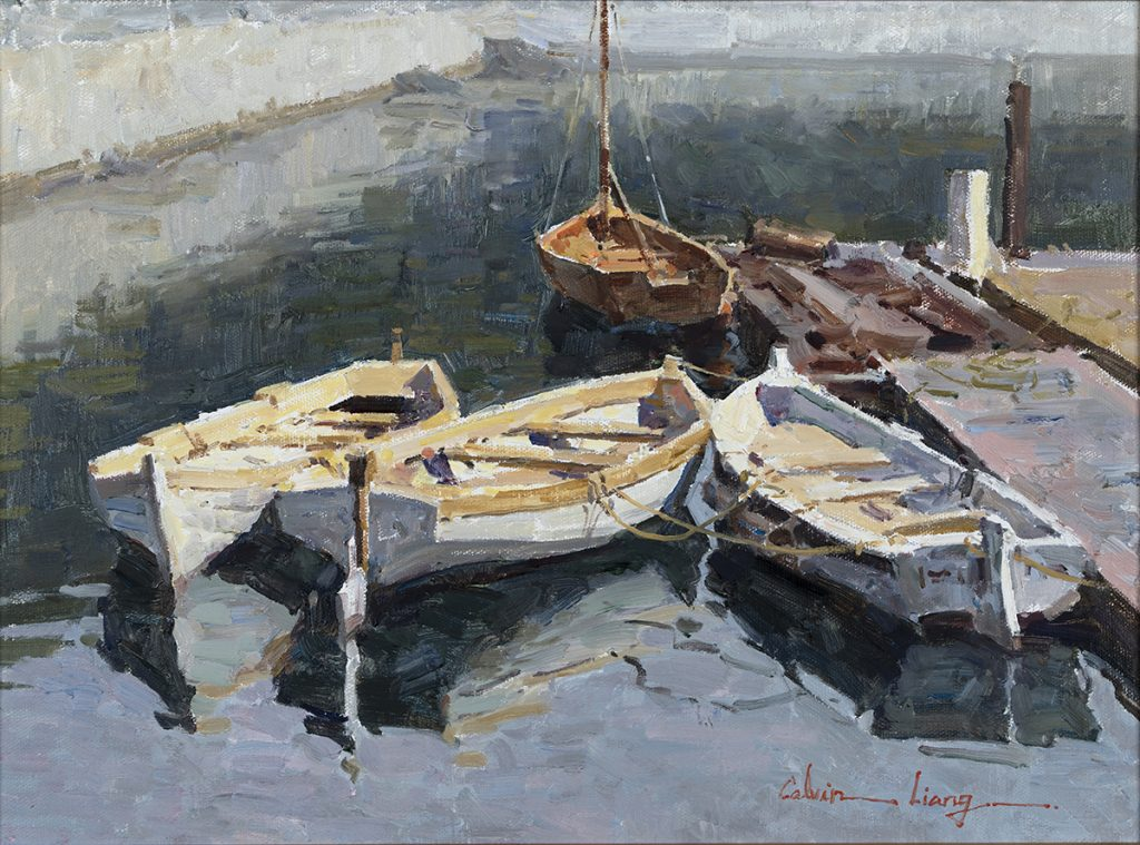 "2021 Directors' Award ""Boats in Dana Point"" by Calvin Liang"